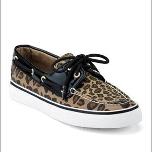 Cheetah Print Sperry Boat Shoes